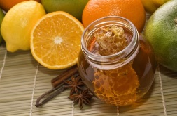 fresh honey, lemons, oranges, cinnamon, vanilla, anise star