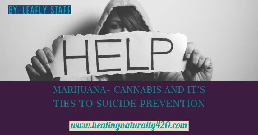 Medical Cannabis and Its Ties to Suicide Prevention from:Leafly