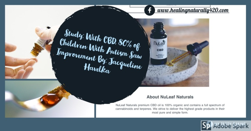 Study: With CBD, 80% of Children With Autism Saw Improvement By: Jacqueline Havelka
